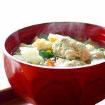 chicken-balls-soymilk-miso-soup