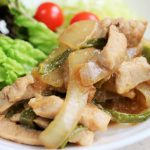 pork-green-pepper-onion-ponzu-fried