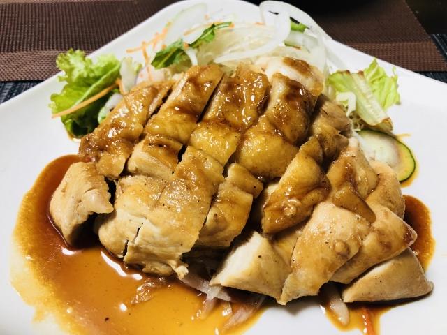 chicken-breast-meat-onion-ponzu-fried