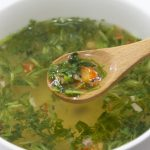 ginger-soup-of-japanese-parsley-and-the-chicken
