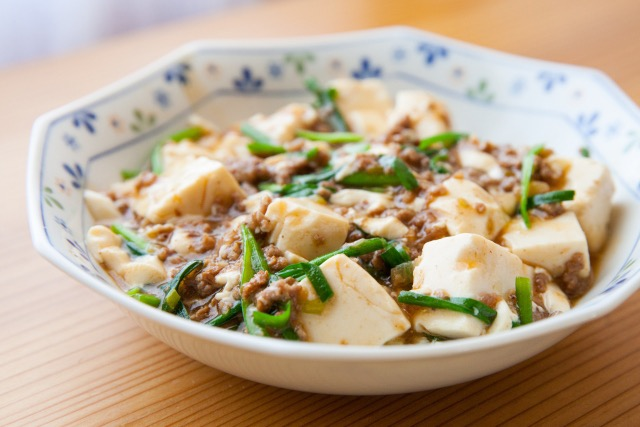 Leek-if-minced-meat-Mapo-tofu